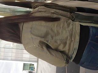 Peen on teen - Cum on teen girl at bus stop bus