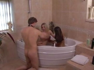 Softer mistresses demand complete obedience at bathtime