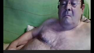 horny spanish grandpa wanking webcam