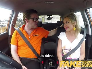 Fake Driving School Blonde busty Polish tight pussy fucked
