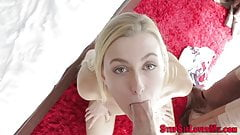 Stepsister sucking cock