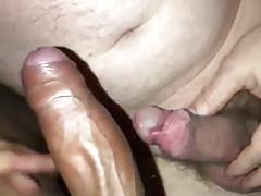 Old white man sucks young black dick