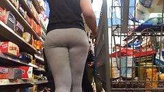 Sexy Ass Grey Leggings VPL (Checkout Line)