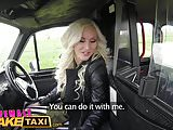 Female Fake Taxi Big tits blonde fucks her passenger