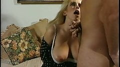Blonde slut sucks cock and takes it from behind