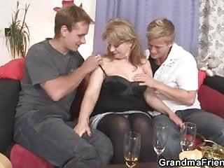 She sucks and rides cock at same time