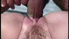 Hairy white cunt getting black cock