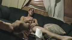 heterosexual guy masturbating to cum