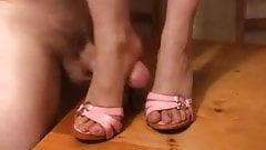 Pink High heel mules
