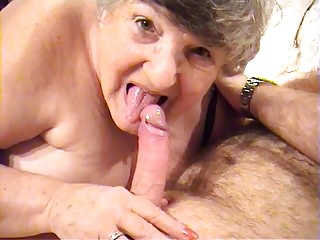 80 year old GrandmaLibby fucks young stud