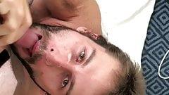 Sucking Latin Uncut Cock and Eating Cum