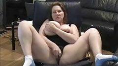 Busty mature dildo fun