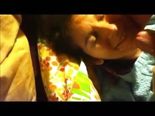 Wife face fuck+masturbation while being called whore