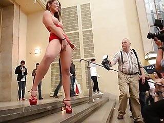 Julie Skyhigh Displaying Her Cunt In Public