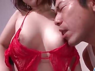 Threesome sex with huge boobs beauty Arisa Araki