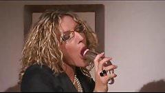 Italian Blonde Milf  Cum in Mouth