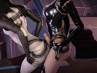 3D Miranda Lawson's ass is really nice (futanari)