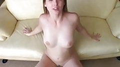 Horny girlfriend swallows cum