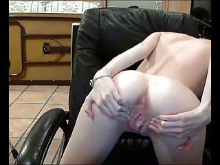 Cute Horny Teen Shows Off Her Tight Spread Ass