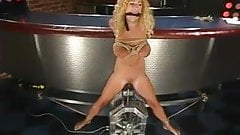 hirny busty blonde tied up and toyed