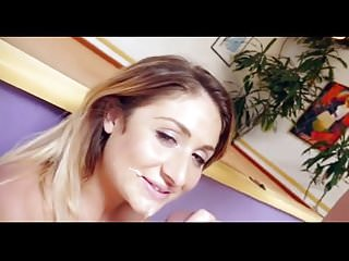 Alyssa Cole face sprayed with nut
