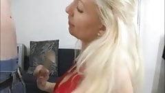 Hot blonde milf blowjob skills