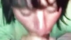 Amateur wife sucking big black cock hungry for cum