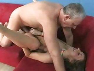 Younger girl fucks older man !!!