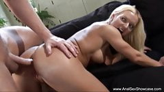 Blonde MILF Anal Penetration's Thumb