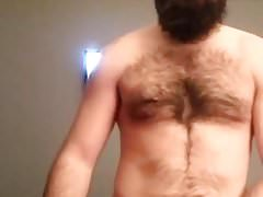 Bearded guy plays