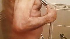 big dick grandpa under the shower