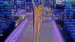Stripper on stage