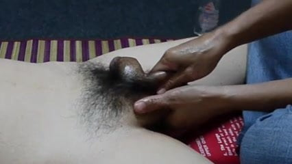 Testicle massage video