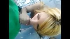 T-girl Sucking Cocks On The Street To Make A Living