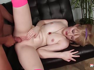 Teen slut fucks a mature man