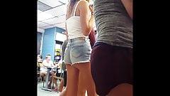 Candid voyeur teen model body beautiful skinny blonde