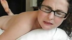 Horny mature humping her pillow