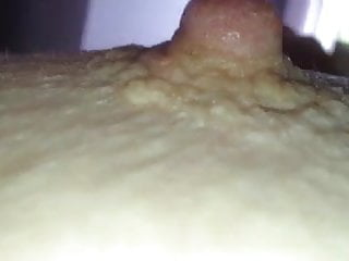 playing with her ripe nipple,hairy pussy & my cock.