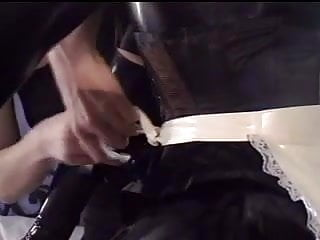 Mistress plays with her sub