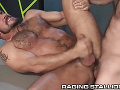 RagingStallion Hairy Jocks Goes Straight For Cock