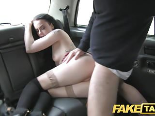 Fake Taxi huge creampie for sexy skinny young goth girl