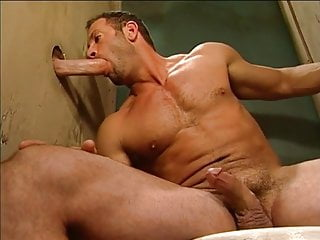 Gay, great Glory Hole for muscle Men By Rambo