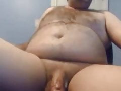 Sexy chubby bear having fun