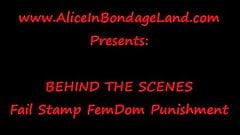 FAIL STAMP FemDom Humiliation Correctional Tech Mistress