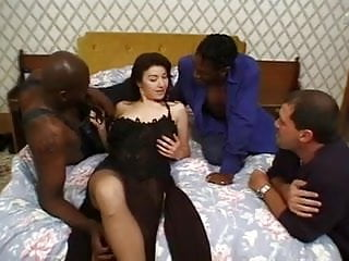 Strips inc - Gangbang and dp of stockings brunette, inc interracial.
