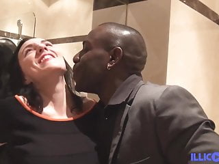 Mya pretty stewardess fucked by a black cock