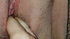 Hairy bbw pussy play and fuck