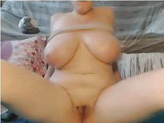 Webcams 2014 - Nerdy Chick w HUGE TITS Rides Dildo 2