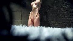 very hot body women showering