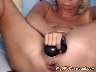 My MILF Exposed - monster dildo in wife's ass and pussy